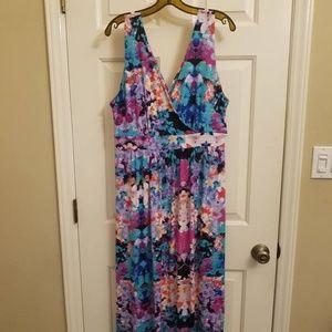 Multicolored Floral Maxi Dress
